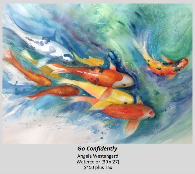 Watercolor painting of Go Confidently by Angela Westengard
