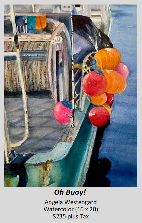 Watercolor painting of Oh Buoy! by Angela Westengard