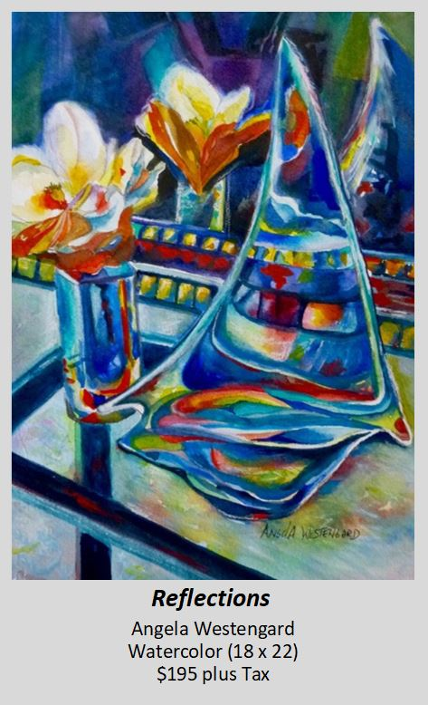 Watercolor painting of Reflections by Angela Westengard