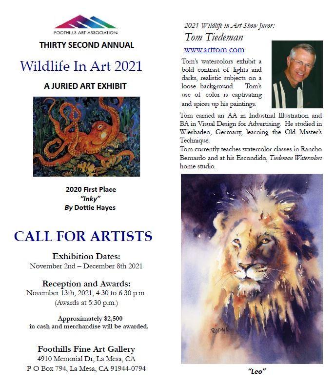 2021 Wildlife in Art Show Call for Artists Prospectus image